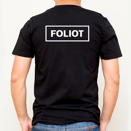 T-shirt Foliot sur le dos