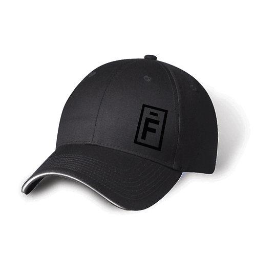 Casquette grise -  logo brodé noir