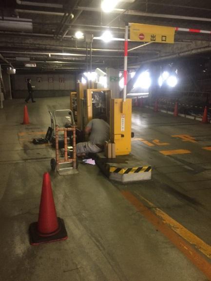 車路管制撤去工事2