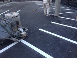 バイク駐車場ライン工事