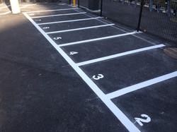 バイク駐車場ライン工事2