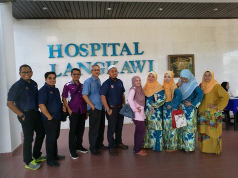 Lawatan Kerja Ke Hospital Langkawi - 11-13 Ogos 2018 (Jawatankuasa Kelab Sukan HSR)