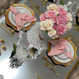 I styled this table decor by  adding col