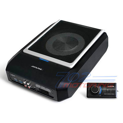 "ALPINE PWD-X5 COMPACT POWERED 8"" SUBWOOFER SYSTEM WITH 4-CHANNEL DSP & AMP NEW!"