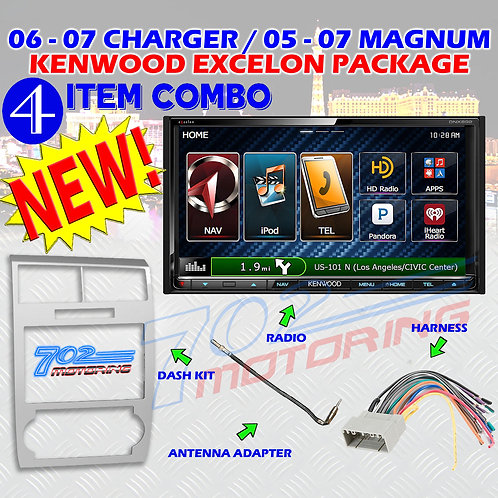 05-07 DODGE MAGNUM / CHARGER DNX892 + 99-6519S + HARNESS + ANTENNA ADA