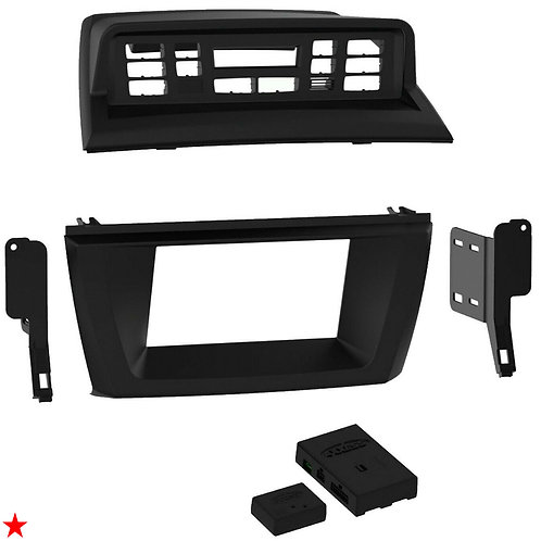 2004 - 10 BMW X3 DOUBLE-DIN INSTALLATION KIT (WITH iDRIVE, WITHOUT MOST AMP) NEW
