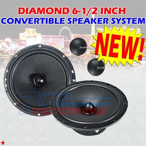 "DIAMOND 6.5"" INCH CONVERTIBLE CAR SPEAKERS FOR HARLEY DAVIDSON REAR SPEAKERS"