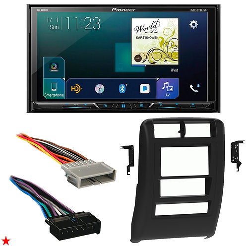 "1997 - 2001 JEEP CHEROKEE DOUBLE DIN CAR STEREO INSTALLATION DASH KIT BEZEL ""58"""