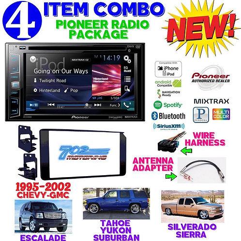 95-02 GM TRUCK/SUV AVH-X391BT + 95-3003G + HARNESS + ANTENNA ADAPTER