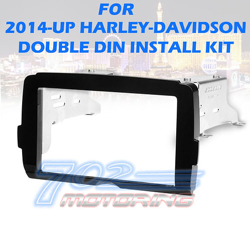 2014-20 HARLEY DOUBLE DIN RADIO INSTALL ADAPTER DASH KIT CONTROL BEZEL