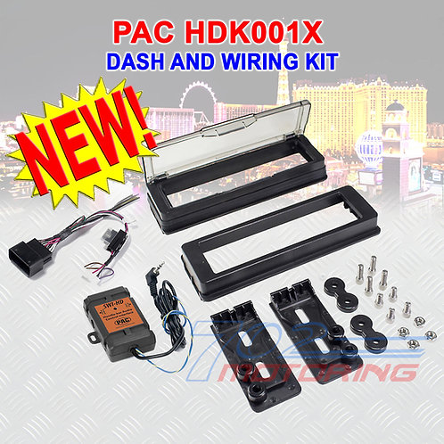 PAC HDK001X INSTALL ADAPTER WITH WEATHERPROOF COVER FOR 98-13' HARLEY-DAVIDSON