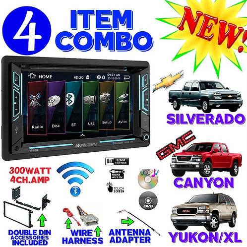FITS CHEVY-GMC TRUCK-VAN-SUV CD/DVD BLUETOOTH RADIO STEREO DOUBLE DIN DASH KIT