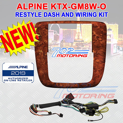 ALPINE KTX-GM8W-O RESTYLE DASH AND WIRING KIT FOR SELECT 2007-UP GM (WOOD GRAIN)