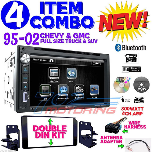 95-02 GM TRUCK/SUV VR-651B + 95-3003G + HARNESS + ANTENNA ADAPTER