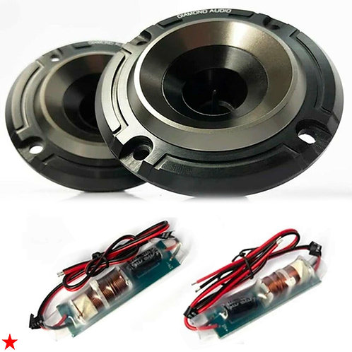 DIAMOND AUDIO PRO MO75T HORNS WITH DUAL STAGE HORN FLARE FOR HARLEY-DAVIDSON