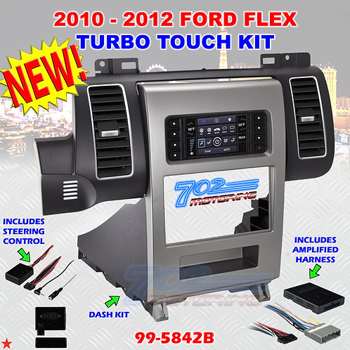 METRA 99-5842B BLACK DOUBLE DIN DASH KIT FOR SELECT 2010 - 2012 FORD FLEX NEW!