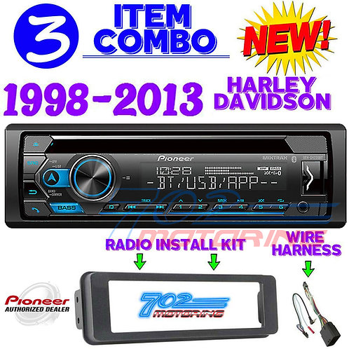 FOR HARLEY TOURING PIONEER DEH-S4220BT BLUETOOTH RADIO STEREO ADAPTER KIT SCHOSC