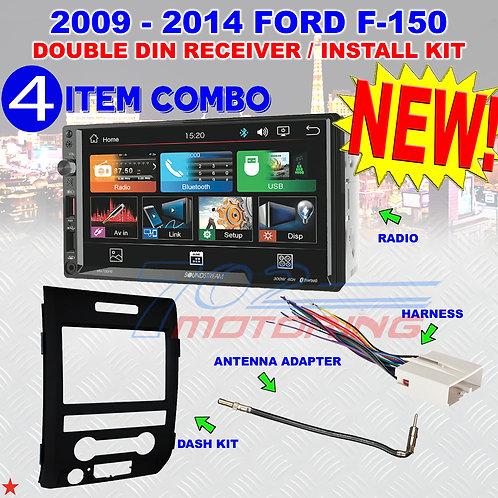 2009-14 FORD F150 SOUNDSTREAM TOUCHSCREEN BLUETOOTH USB CAR RADIO STEREO PKG NEW