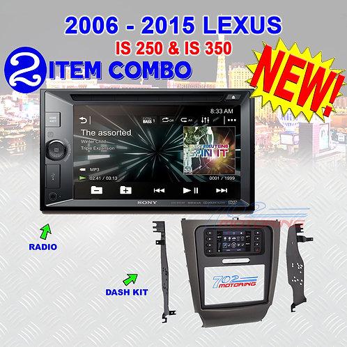 "06 -15 ""IS"" SERIES LEXUS - XAV-W651BT + METRA 99-8163"