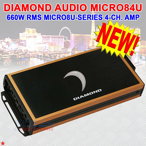 DIAMOND AUDIO® MICRO84U 660W RMS MICRO84U-SERIES 4-CHANNEL CLASS-D AMPLIFIER