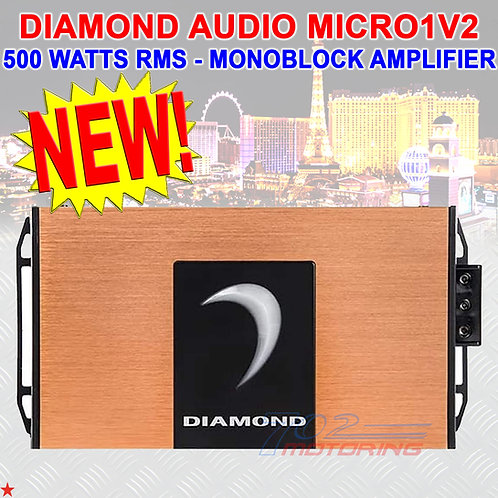 DIAMOND AUDIO® MICRO1V2 MONOBLOCK MOTORCYCLE 500W RMS AMPLIFIER FOR HARLEY NEW!