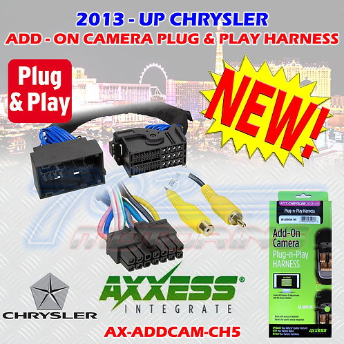 AXXESS AX-ADDCAM-CH5 ADD-ON CAMERA PLUG-N-PLAY HARNESS 2013 - UP CHRYSLER