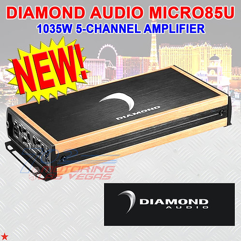DIAMOND AUDIO® MICRO85U 1035W RMS MICRO8U-SERIES 5-CHANNEL CLASS-D AMPLIFIER AMP