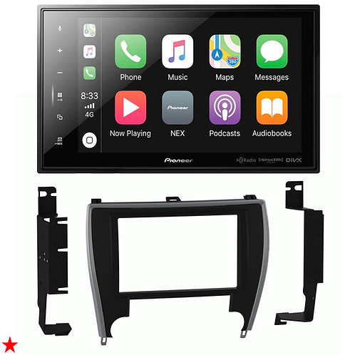 "DMH-C5500NEX 8"" DIGITAL MULTIMEDIA RECEIVER + DASH KIT FOR TOYOTA CAMRY 15- 2017"