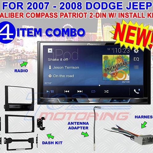07 08 COMPASS CALIBER PATRIOT PIONEER TOUCHSCREEN USB BLUETOOTH CAR STEREO RADIO