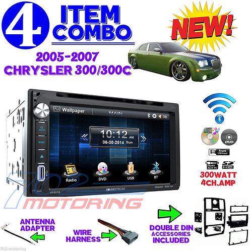 05-07 CHRYSLER 300/300C VR-651B DOUBLE DIN CAR RADIO STEREO + INSTALL DASH KIT
