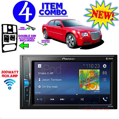 05-07 CHRYSLER 300/300C MVH-200EX DOUBLE DIN BLUETOOTH BT CAR RADIO STEREO