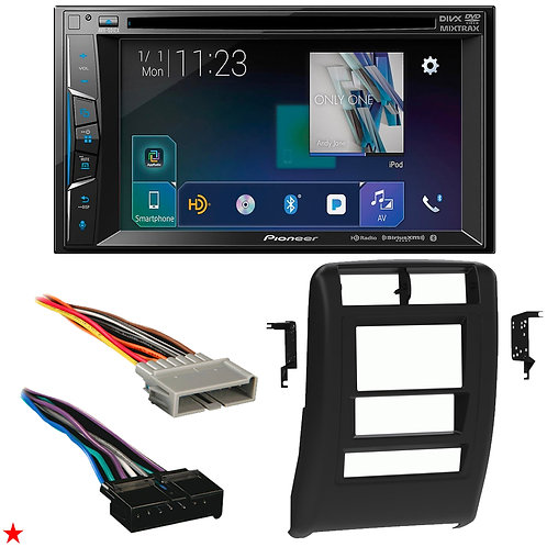 "1997 - 2001 JEEP CHEROKEE DOUBLE DIN CAR STEREO INSTALLATION DASH KIT BEZEL ""55"""