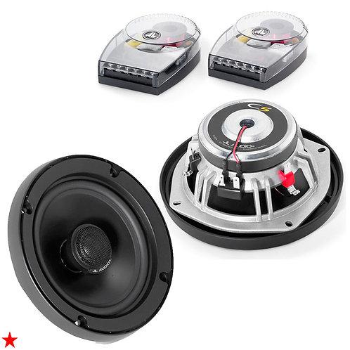 """C5-525X JL AUDIO 5-1/4"""" 2-WAY CAR SPEAKERS WITH CROSSOVERS SILK TWEETERS 225 W"""