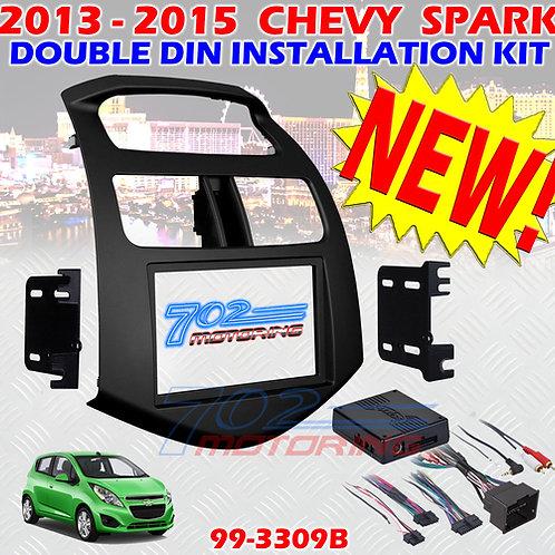 2013 - 2015 CHEVY SPARK DOUBLE DIN CAR STEREO INSTALLATION KIT WITH INTERFACE