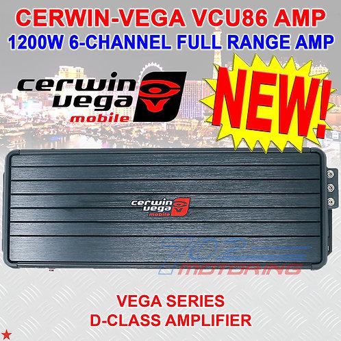 CERWIN-VEGA VCU86 1200W 6-CH CLASS D CAR MOTORCYCLE AMPLIFIER WATER-RESISTANT
