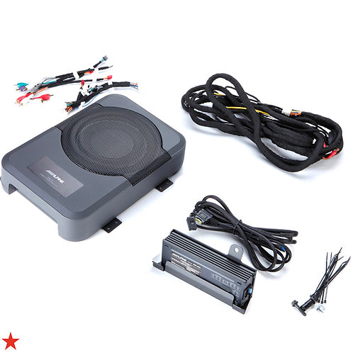 ALPINE POWERED SUBWOOFER + SPEAKER AMP FOR 2016 - 2019 TOYOTA TACOMA DOUBLE CAB