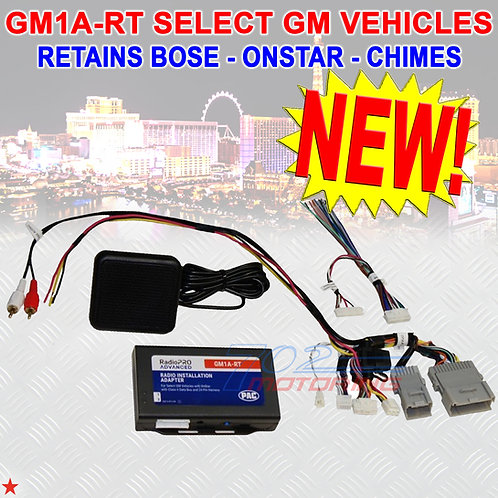 PAC GM1A-RT RADIOPRO ADVANCED INTERFACE FOR SELECT GENERAL MOTOR VEHICLES 24-PIN