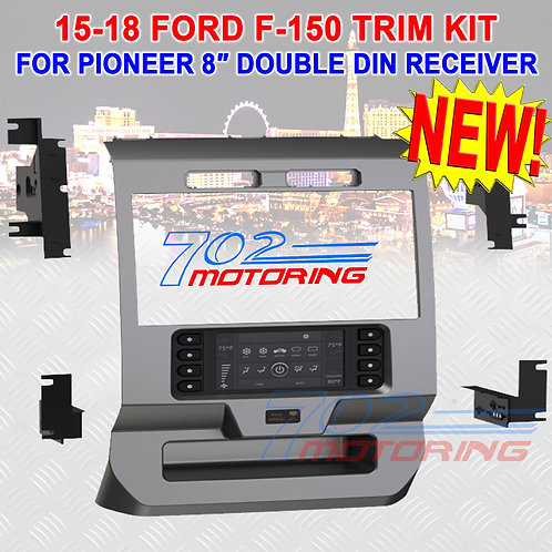 """DASH KIT FOR PIONEER 8"""" DIGITAL MULTIMEDIA RECEIVER IN FORD F-150 2015 - 18 NEW!"""