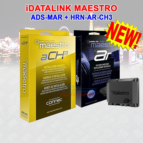 ADS MAESTRO iDATALINK AR INTERFACE w/ CHRYSLER JEEP DODGE & FIAT T HARNESS CH3