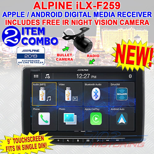 "ALPINE iLX-F259 HALO9 9"" SINGLE DIN TOUCHSCREEN APPLE CARPLAY ANDROID CAR STEREO"