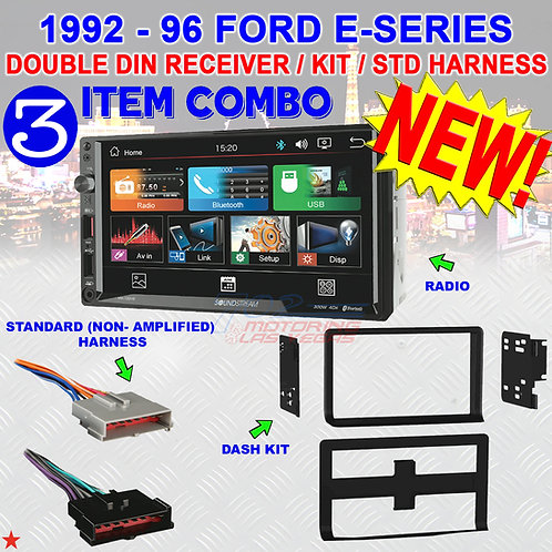 92-1996 FORD ECONOLINE SOUNDSTREAM VM-700HB DDIN + 95-5704 KIT + STD. HARNESS
