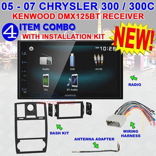 05 06 07 CHRYSLER 300 300C DOUBLE DIN CAR RADIO STEREO + INSTALL KIT 99-6516B