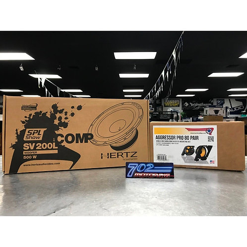 """AGGRESSOR PRO 80 PAIR 8"""" WOOFER MOUNT KITS A HARLEY TOURING"""