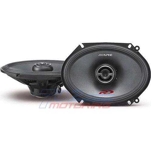 "ALPINE SPR-68 6"" X 8"" TYPE-R 300W 2-WAY SILK TWEETERS COAXIAL CAR AUDIO SPEAKERS"