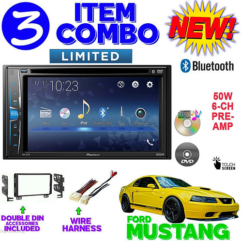 01 02 03 04 FORD MUSTANG BLUETOOTH CD AUX 2DIN RADIO STEREO DASH KIT AVH-221EX