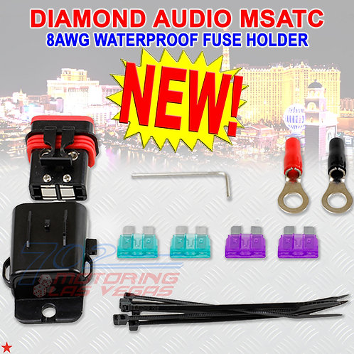 DIAMOND AUDIO MSATC FUSE HOLDER 8AWG INPUT 8AWG OUTPUT WATERPROOF FOR HARLEY