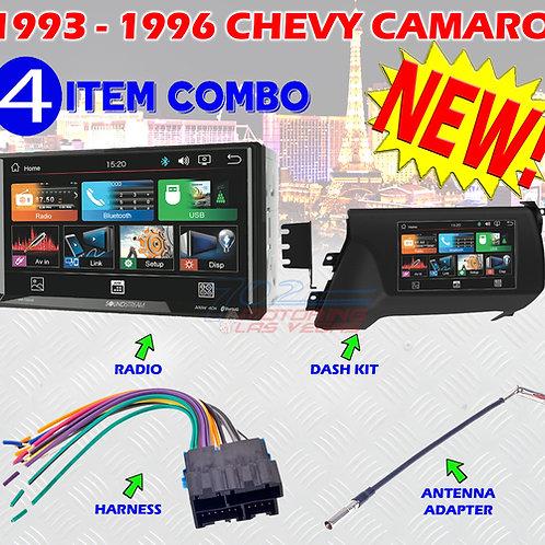 1993 - 1996 CHEVY CAMARO DOUBLE DIN CAR STEREO DASH INSTALLATION KIT VM-700HB