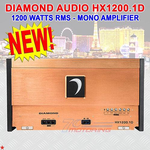 DIAMOND AUDIO® HX1200.1D HEX-SERIES 1200 WATTS RMS MONOBLOCK CLASS-D AMPLIFIER
