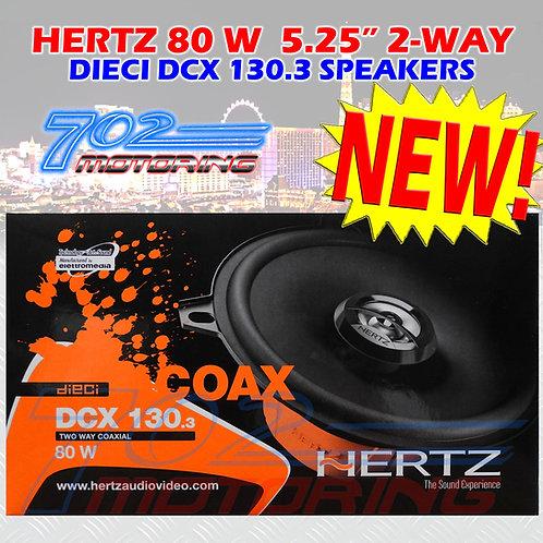 HERTZ DCX 130.3 CAR 5-3/4 AUDIO 80W 2-WAY PEI DOME TWEETERS COAXIAL SPEAKERS NEW