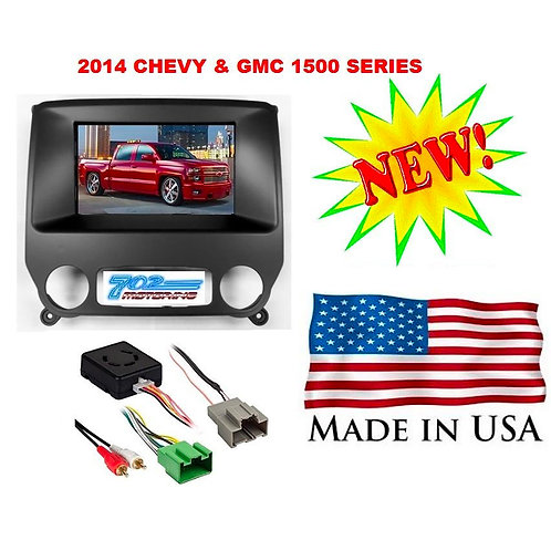 2014 CHEVY & GMC TRUCK DOUBLE 2 DIN CAR STEREO RADIO INSTALLATION DASH KIT